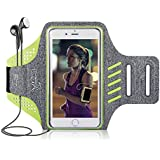 Balight Women Running Armband Sportband for iPhone Xs,XS MAX,XR,X,8 Plus,8,7,7 Plus,6,6S,SE and Samsung Galaxy S9,S8 Plus,S7 Edge,Note 9,Note 8, Workout Exercise Sweatproof Night Jogging Gym Arm Band