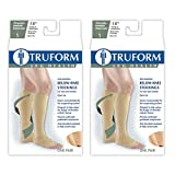 Truform 0808 Anti-Embolism Stockings, Knee Length, Open Toe, 18 mmHg, Beige, X-Large (Pack of 2)