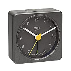 Braun Square Analog Travel Alarm Clock