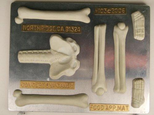 Large Skeleton (bottom half) H103 Halloween Chocolate Candy Mold]()