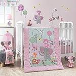 Bedtime-Originals-Twinkle-Toes-Jungle-Elephant-3-Piece-Bedding-Set-PinkWhite