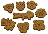 Howlin' Goodies Dog Treats, Made in USA, 100% All Natural Organic Ingrediants, Sweet Potato Jungle Animals, 10lb Bulk Box