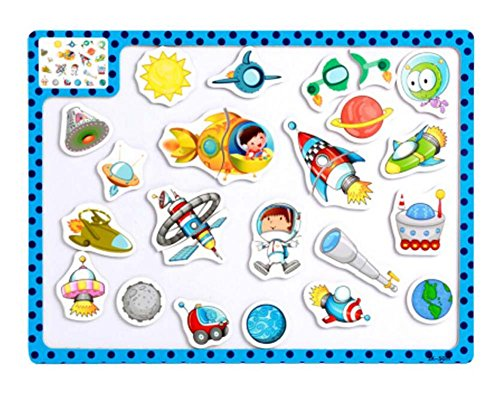 Price comparison product image Creative Kids Children Cartoon Magnetic Puzzles Educational Toys (Space World)