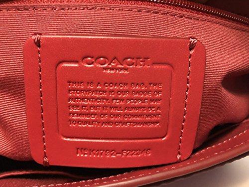 Faye Coach Purse F22348 True Leather Red Carryall Crossbody 55nWc6xSZ