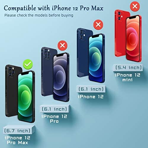 """[2+2 PACK] UNIQUEME TEMPERED GLASS COMPATIBLE WITH IPHONE 12 PRO MAX 6.7"""" PRIVACY SCREEN PROTECTOR AND CAMERA LENS PROTECTOR, ANTI SPY [EASY INSTALLATION FRAME] [PRECISE CUTOUT] BUBBLE FREE"""