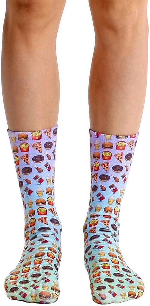 Living Royal Photo Print Crew Socks: Food Emoji