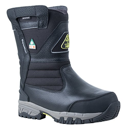 RefrigiWear Men's Extreme Pull-On Insulated Waterproof 8-Inch Freezer Work Boots (Black, Size 9 US)