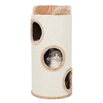 Hundehutten Katze Klettergerust Katzenstreu Kratzbaum Sisal Krallen Geschlossen Einteiliges Haus Villa Vier Jahreszeiten Universal Fass
