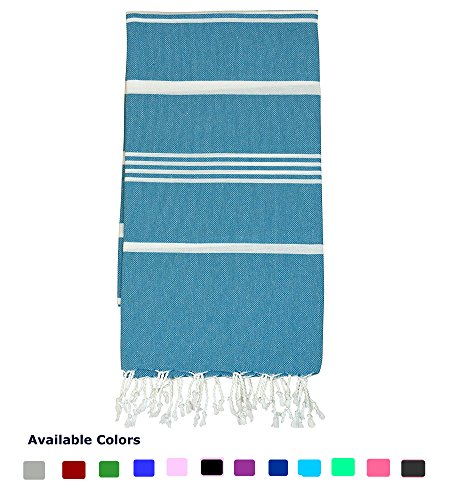 Nature Is Gift Turkish Peshtemal Towels Pestemal Towel Thin Camping Bath Sauna Beach Gym Pool Blanket Fouta Towels 100% Cotton Petrol (Petrol Wash)