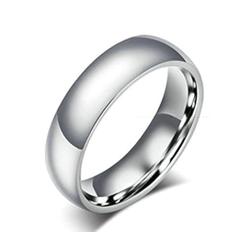 Anillos de acero inoxidable Beydodo (bandas de boda) para hombre, High acabado pulido 6 mm), color plateado: Beydodo: Amazon.es: Joyería