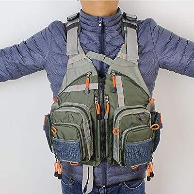 KyleBooker Fly Fishing Vest Pack (Fishing Vest/ Fishing Sling Pack/ Fishing Backpack)