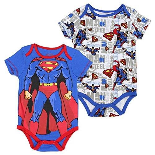 Superman Man of Steel Baby Boy 2 Pcs Bodysuit (Onesie/Creeper) 6-9 Months