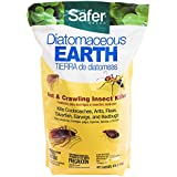 Safer Brand 51703 Diatomaceous Earth Bed Bug, Flea and Ant Crawling Insect Killer, 4 lb