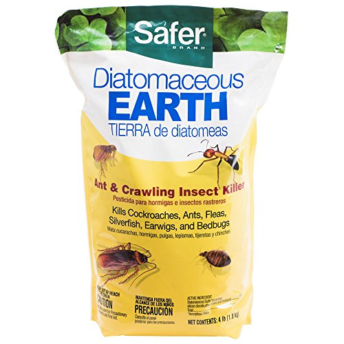 Safer 51703 Diatomaceous Earth-Bed Bug Flea, Ant, Crawling Insect Killer 4 lb (Best Diatomaceous Earth For Bed Bugs)