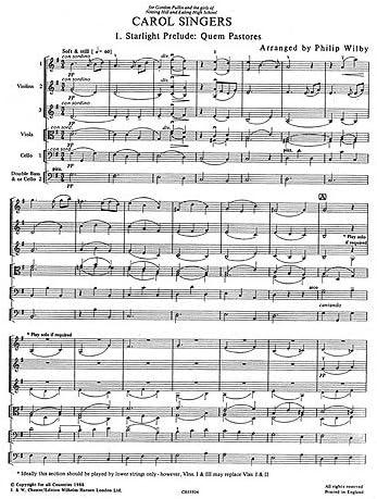playstrings moderadamente fácil nº 16 Carol cantantes (Wilby ...
