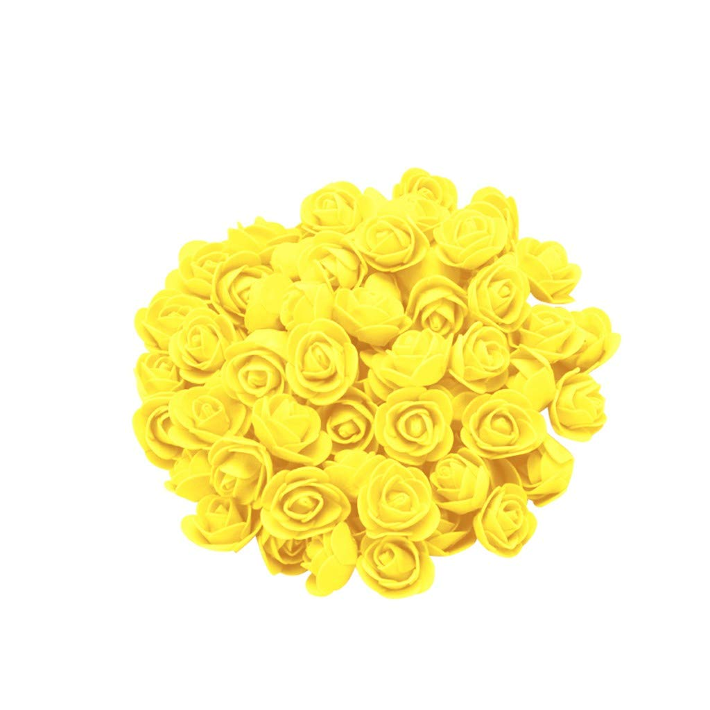 Cyhulu New Fashion Creative 100Pcs Foam Rose Flower Heads Best Lover Gifts for Wedding Birthday Valentine Mother's Day Favors Decoration (C, One size)