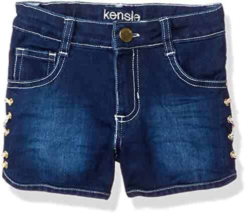 Kensie Girls' Stretch Denim Short with Lace up Sides