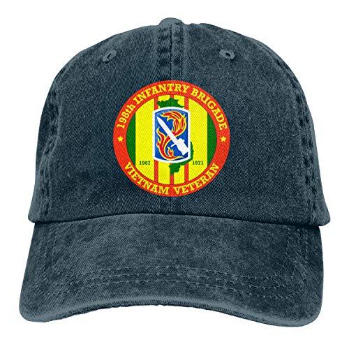 - 198th Light Infantry Brigade Vietnam Veteran Unisex Cowboy Caps Baseball Hats Adult Adjustable Caps Navy