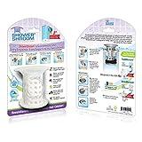"ShowerShroom Revolutionary 2"" Stand-up Shower Stall Drain Protector Hair Catcher/Strainer 2"", White"