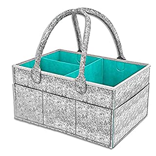 BeeMart Baby Diaper Caddy Car Travel Organizer Portable Large Nursery Storage Bin Shower Gifts Basket for Boy Girl Perfect for Infant Nappy Gift Bag