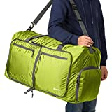 Mewalker 80L Packable Travel Duffle Bag, Large Lightweight Luggage with Pockets (green)