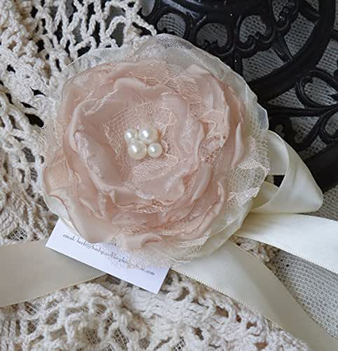 Wrist Corsage, Floral Corsage, Fabric Corsage, Fabric flower Corsage