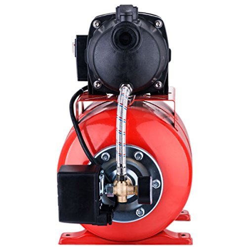1200W 3500L/H Plastic Booster Pump Shallow Well Garden Pump 110V/60Hz for Garden Lawn Home Use Red