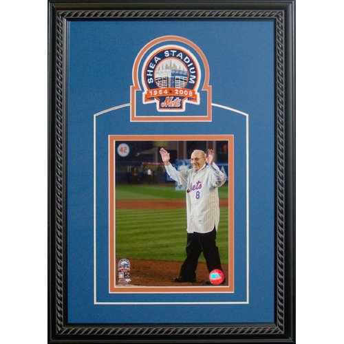 Shea Stadium Final Game - Yogi Berra Shea Stadium Final Game Celebration Framed 8x10 w/ Shea Patch