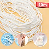 10 Meters High Elastic elastic rope for Sewing craft project, Color band, Bracelet, DIY Mask (White)