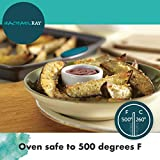 Rachael Ray 47425 Bakeware Nonstick Cookie Pan Set, 3-Piece, Gray with Marine Blue Grips