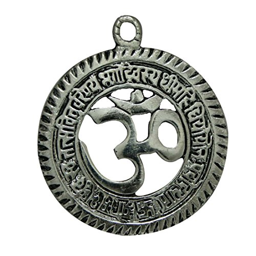 Divya Mantra Gayatri Mantra with Om Wall/Door Hanging Others Silver