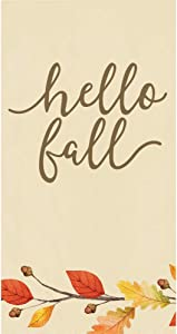 Creative Converting Hello Fall Decor, Paper Hand Towels for Bathroom, Thanksgiving Napkins, Guest Towels Disposable, Fall Decorating Ideas Rustic Home Decor Fingertip Towels Pk 32
