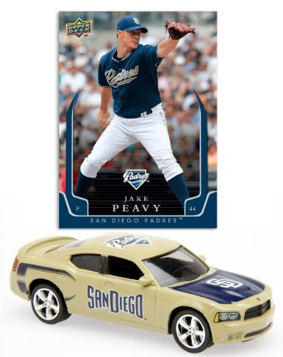 MLB 2008 Charger 1:64th Scale Diecast with an Exclusive Upper Deck Trading Card -San Diego Padres - - Elite Cards Sports