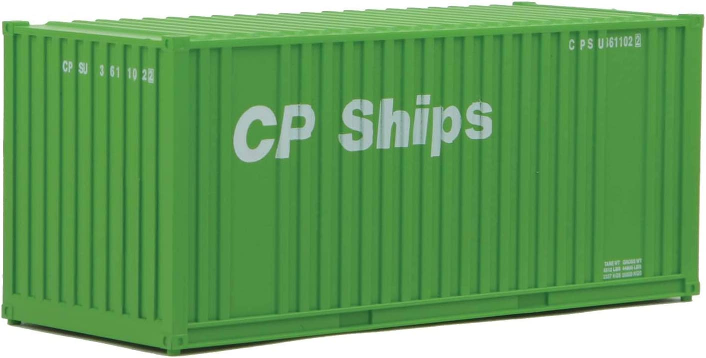 Orange, Blue, White Walthers SceneMaster HO Scale Model of  Genstar 20 Corrugated Container with Flat Panel
