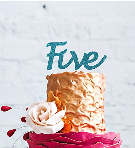 Number Five Large Cake Topper