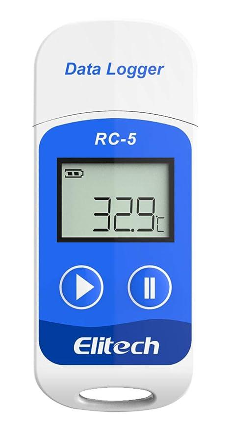 elitech rc 5 usb temperature data logger recorder 32000 points high accuracy - Temperature Data Logger