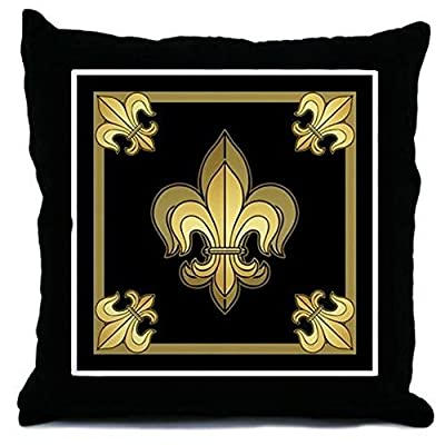 CafePress - Gold Fleur De Lis - Throw Pillow, Decorative Accent Pillow