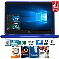 Dell Inspiron i3179 11.6 HD 2-IN-1 Laptop, 7th Gen Intel m3-7Y30, 4GBRAM, 500GB Blue + Elite Suite 17 Standard Software Bundle (Corel WordPerfect, PC Mover, PDF Fusion, X9) + 1 Year Extended Warranty