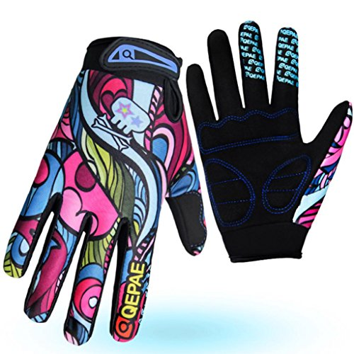 "Cycling Gloves,GOTD Full Finger Cycling Gloves Riding Gloves Bike Gloves Mountain Bike Gloves- Breathable, Durable and Sweat-Wicking Men Women Work Gloves (M Palm Width: 3.74"" L: 8.27"", Multicolor)"