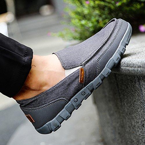 on de Pumps Entrenadores 38 Cubierta Zapatillas del Mocasines Tenis Sandalias Zapatos Plano Zapatos Gris 48 Slip Barco Zapatos Conducción Zapatos Juleya Moda Verano Lona Zapatos Hombre de ZOBqw7W8