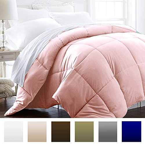 Beckham Hotel Collection 1200 Series - Lightweight - Luxury Goose Down Alternative Comforter - Hotel Quality Comforter and Hypoallergenic - Twin/Twin XL - Pink (Down Twin Comforter Pink)