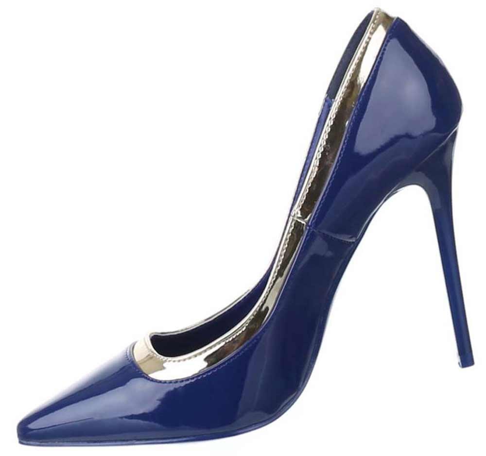 Frauen High Heels mit 11 cm Stiletto-Absatz in Schwarz und Größe 40 Klassische Abendschuhe in Synthetik & Lacklederoptik BFMyolGDo
