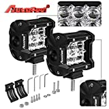 LED Light Bar, Autofeel 4 Inch 18W 5D Lens Spot Beam Driving Fog Light Off Road Led Light Bar with Adjustable Mounting Bracket for Off Road Jeep ATV AWD SUV 4WD 4x4 Pickup