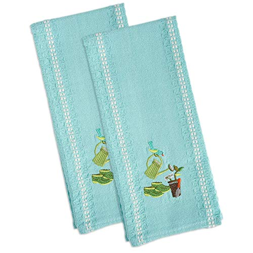 DII Cotton Embroidered Dish Towels, 18x28
