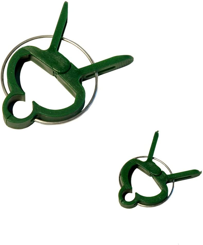 xGarden 50 Pack Combo Pack (Small & Large Sizes) Plant Support Clips Lever Loop Style - Great for Gardening Straightening & Supporting Vines Flowers or Plant Stems