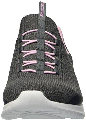 Gris Ccpk Skechers pink Ultra Fille Baskets Flex charcoal Enfiler xaxUgq