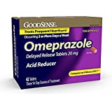 GoodSense Omeprazole Delayed Release, Acid Reducer Tablets 20 mg, 42 Count (2 packs)