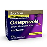 GoodSense Omeprazole Delayed Release, Acid Reducer Tablets 20 mg, 42 Count - Pack of 2