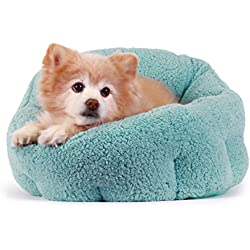 "Best Friends by Sheri OrthoComfort Deep Dish Cuddler (20x20x12"") - Self-Warming Cat and Dog Bed, Teal"