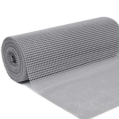 DOLOPL Shelf Liner Drawer Liner Shelves Liners 12 X20 Non Adhesive Non Slip Cuttable Shelf Liners for Kitchen Cabinets Wire Shelving Pantry Dresser Refrigerator (Pack of 1, Gray)